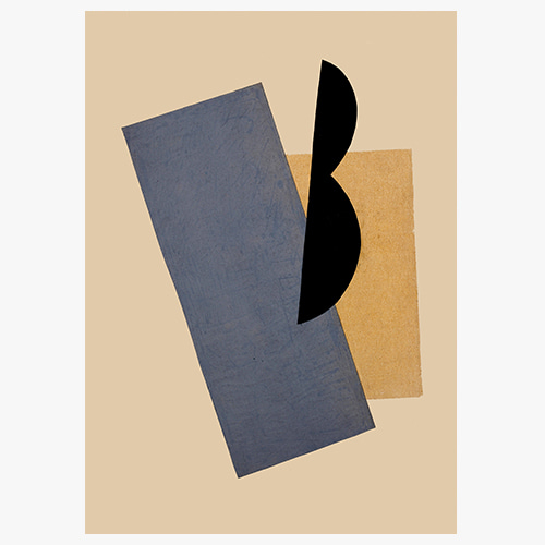 Lyubov Popova, 류보프 포포바 (Composition (Blue-Yellow-Black))
