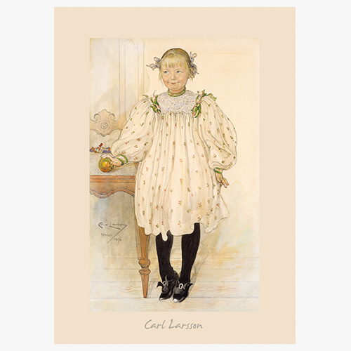 Carl Larsson,(칼 라르손의 Martha Winslow as a Girl)