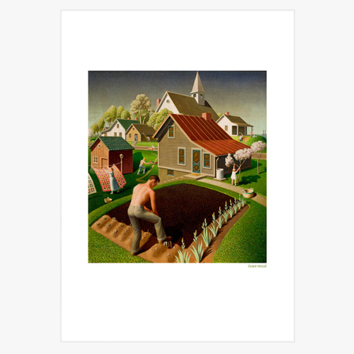 Grant Wood (그랜트 우드의 Spring in Town  이미지)